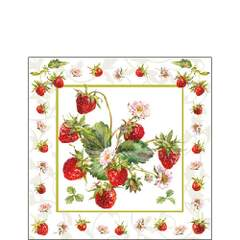 Kaffe servietter Fresh Strawberries 25x25