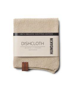 Knitted dishcloth light stone