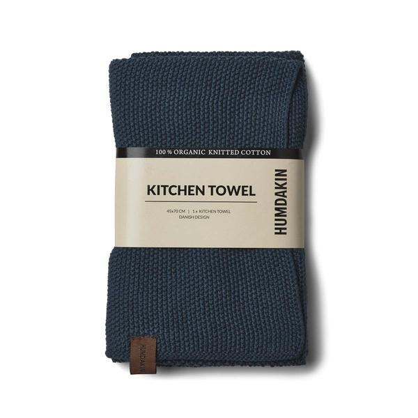 Knittet kitchen towel blå