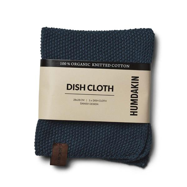 Knittet dish kloth Sea Blue