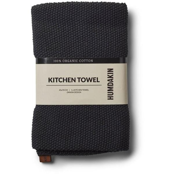 Knitted kitchen towel coal