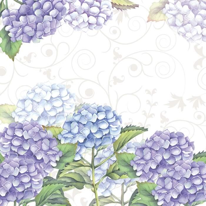 Lunsj servietter hortensia 33x33