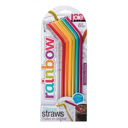 Smootie silicon straws 6 stk