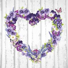Lunsj servietter Purple Heart