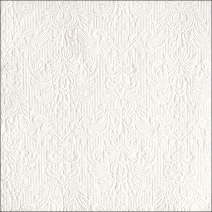 Middag servietter elegance white
