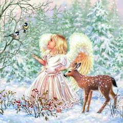 Lunsj servietter Winter angel