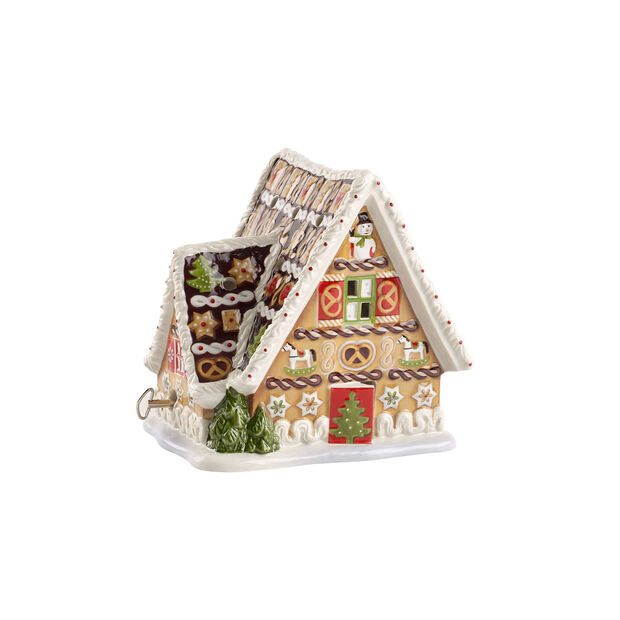Gingerbread house, W/music box