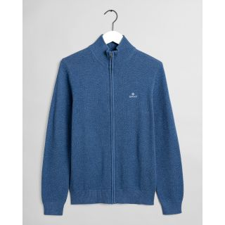 Gant Cotton Pique Zip Cardigan Genser