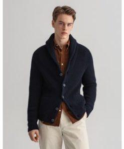 Gant Textured Wool Blend Cardigan