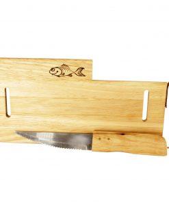 Trefjøl m/kniv