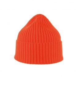 MJM Beanie 100% Wool Orange