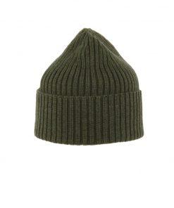 MJM Beanie 100% Wool Army