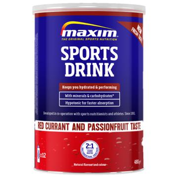 Maxim  Sportsdrikk Redcurrant and Passion fruit 480g