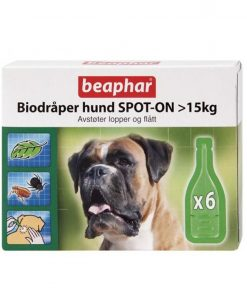"BIODRÅPER Beaphar, Hund over 15kg. ""Spot-on"""
