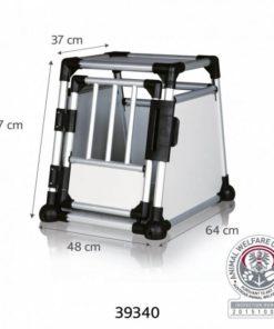 TRANSPORTBUR Trixie, Aluminium, S, 48x57x64cm.