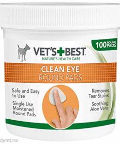 VETS BEST Clean Eye, Round Pads, Øyepleie, 100Stk.