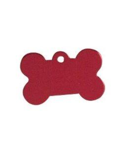 ID-MERKE Hundebein, Rødt, Stort