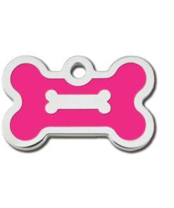 ID-MERKE Hundebein, rosa epoxy, lite