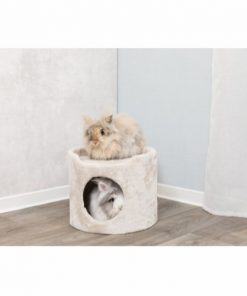 Tower For Kanins/Guinea Pigs, Plys, Ø 34 X 30 Cm, Beige