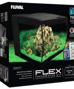 FLEX Fluval, 57L. Svart, 41x39x39cm.
