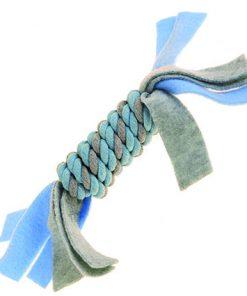 KW Valpeleke tau m/fleece blå 25x5 cm