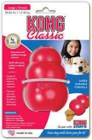 KONG Classic, Rød, M, 9x6cm.