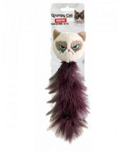 GRUMPY CAT Katteleke m/fjær og catnip