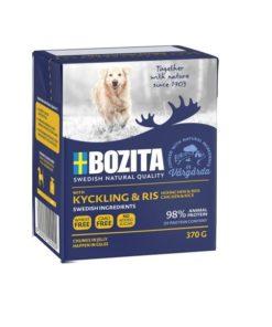 BOZITA Hund, Naturals, Kylling & Ris, 370g.