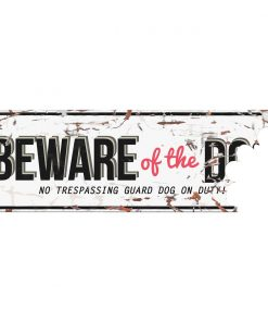 """Metallskilt """"Beware of the dog"""""""