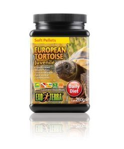 EUROPEAN TORTOISE ExoTerra, Juvenile, Soft Pellets, 260g.