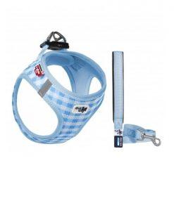CURLI Valpesett, Air-Mesh sele m/kobbel, Skye blue, 3XS