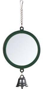 Speil Rund Med Klokke Ø75Cm