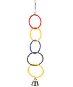 Olympia-ringer med Klokke Ø4,5cm
