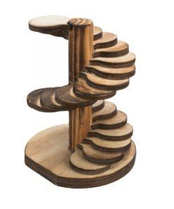 Tårn, Hamster/Mus, Brent Tre, 10 × 14 × 9 Cm
