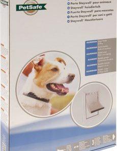 Hundedør Large 640 Aluminium hvit