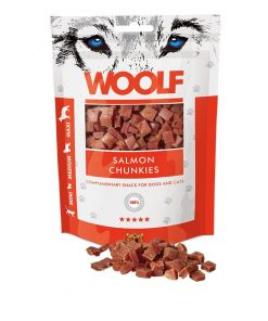 WOOLF Salmon Chunkies, 100g.