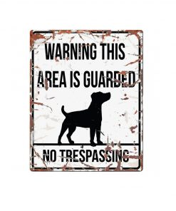 "SKILT ""No trespassing"", Jack Russel, 25x20cm."
