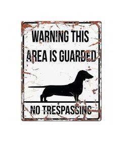 """SKILT """"No trespassing"""", Dachs, 25x20cm."""