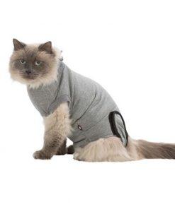 Beskyttelsesdrakt til Katt (liten hund), M–L, Grå
