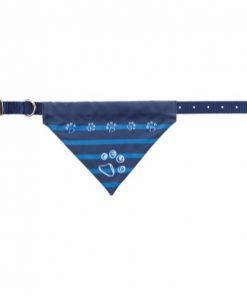 Nylon Collar With Neckerchief, S–M: 30–38 Cm/20 Mm, Indigo