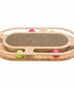 Kradsebræt, Pap With Toys, Træ, Catnip, 46 × 4 × 25 Cm