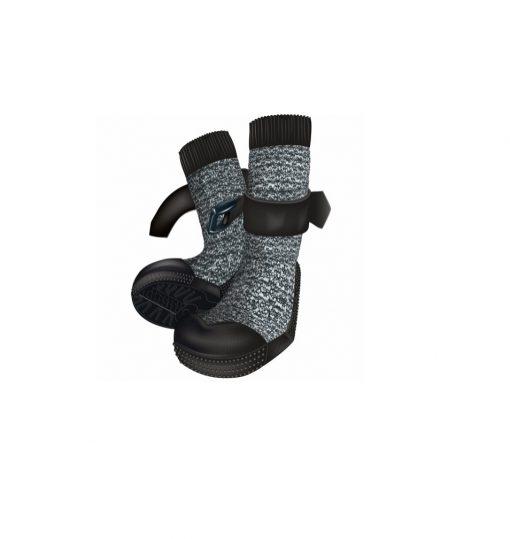 *Walker Socks Paw Protection, Xs, 2 Pcs., Black/Grey