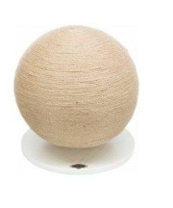 Kloreball m.Treplate, Jute/Wood, Ø 29 × 31 Cm