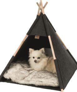 Tipi Hund/Kattehule, Filt, 55 × 65 × 55 Cm, Anthracite
