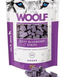 WOOLF Soft Blueberry Strips 100g.