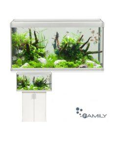 FAMILY Aquastabil, Akvarium, 80x35x42cm., 112L. Hvit