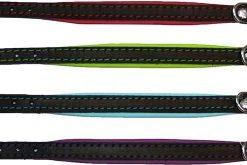 Alac Halsband Skinn svart/Limegrön 2.2X55Cm