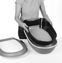 Berto Xl Cat Litter Tray, With Separating System, 47 × 26 ×
