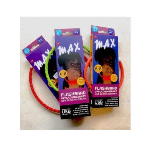 """""""MAX"""" Flashband, Tass, str. XS, ass. farger"""