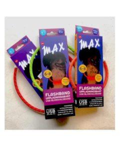 """""""MAX"""" Flashband, Tass, str. L/XL, ass. farger"""